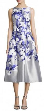 Kay-Unger-New-York-Satin-Floral-Tea-Length-Cocktail-Dress-GrayBlue-Womens-Size-6-Grey-Mlti-212x530