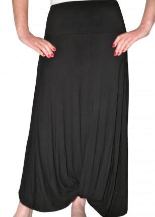 black-midi-skirt-with-dramatic-drape