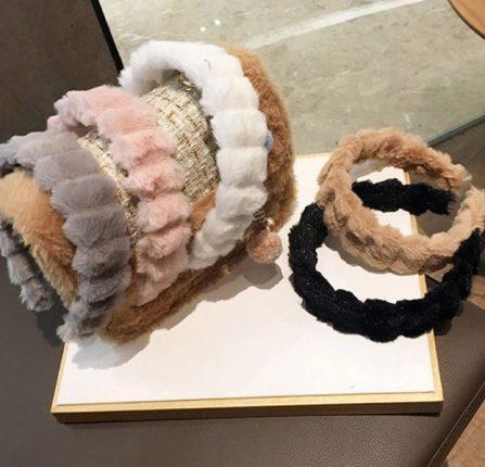 Kids Fur Headband - Metziahs d6ae687f46a