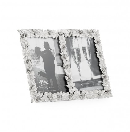 Michael Aram Garland Invitation Double Photo Frame - Metziahs