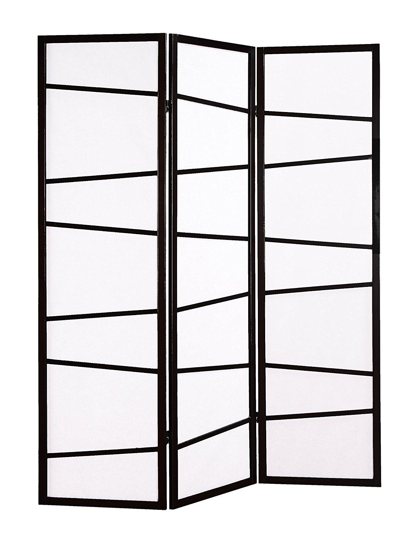 3 panel screen room divider black metziahs - 3 panel screen room divider ...