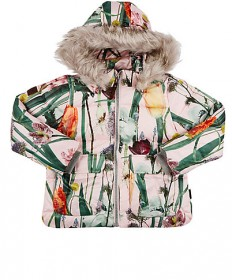 MOLO KIDS Floral Hooded Quilted Coat