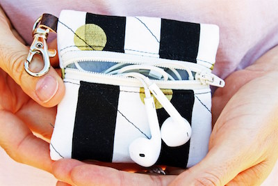 Earbuds case leather - earbud case cover