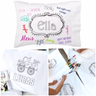 Personalized Coloring Pillowcases - Metziahs