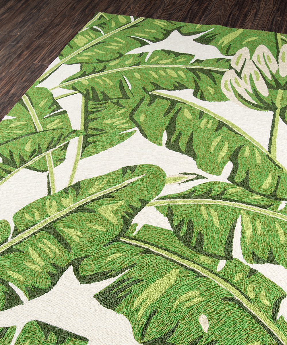 palm leaves veranda rug metziahs. Black Bedroom Furniture Sets. Home Design Ideas