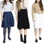 three bows modest knit skirt